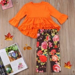 Other - FALL ORANGE FLORAL MATCHING OUTFIT